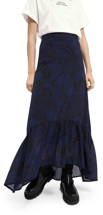 Scotch /& Soda Girls Plisse Skirt with Zig Zag Allover Print