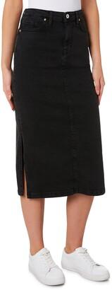 Outland Denim Penelope Denim Pencil Midi Skirt