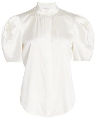 Frame Evie Puff-Sleeve Blouse