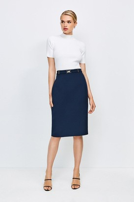 Karen Millen Forever Cinch Belted Pencil Skirt