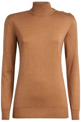 Balmain Button-Detail Rollneck Sweater