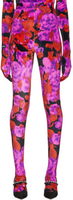Richard Quinn Red Floral Leggings