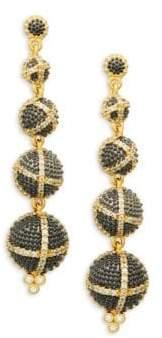 Freida Rothman Textured Ornaments Dome Linear Drop Earrings