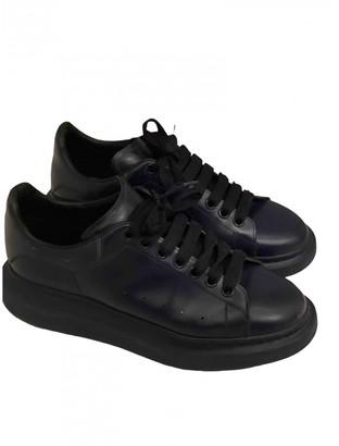 Alexander McQueen Oversize Navy Leather Trainers