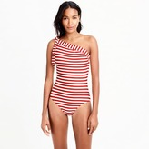 J.Crew Long torso one-shoulder one-piece swimsuit in classic stripe