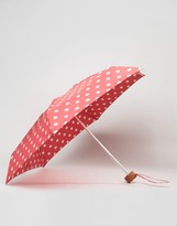 Cath Kidston Tiny Button Polka Dot Umbrella in Cranberry