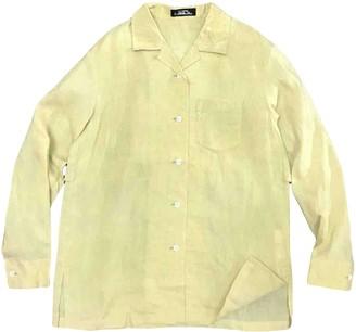Issey Miyake Yellow Linen T-shirts