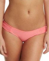 Tori Praver Swimwear Daisy Shirred-Side Swim Bottom