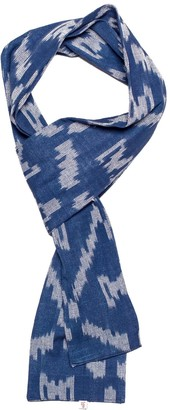 &Sons Trading Co Blue Ikat Scarf