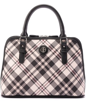 Giani Bernini Saffiano Plaid Dome Satchel, Created for Macy's