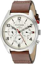 Tommy Hilfiger Men's 1791208 Casual Sport Watch with Brown Band