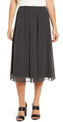 Anne Klein Dot Box Pleat Skirt