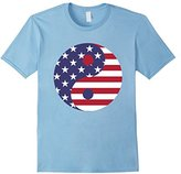 Yin Yang USA Flag T Shirt