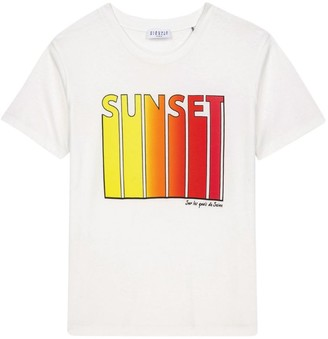 Claudie Pierlot Sunset Slogan T-Shirt
