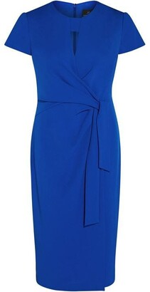 Adrianna Papell Knit Crepe Draped Sheath Dress