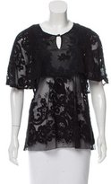 Anna Sui Guipure Lace Embroidered Top w/ Tags