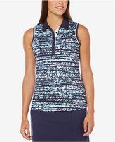 Callaway Floral-Stripe Sleeveless Golf Polo