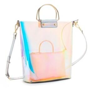 Like Dreams Hologram Ring Handle Tote Bag