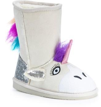 Muk Luks Luna Unicorn Kids' Plush Boots