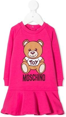 MOSCHINO BAMBINO Teddy Bear sweater dress