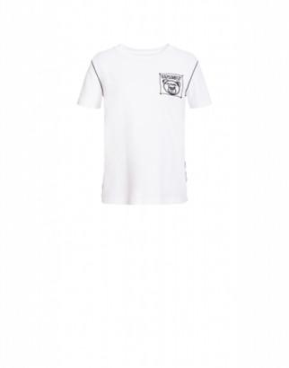Moschino Jersey T-shirt Teddy Label Cornely Woman White Size 36 It - (2 Us)