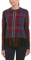 Autumn Cashmere Fringe Cashmere Sweater.