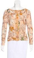 Blumarine Long Sleeve Printed Top