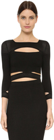 Cushnie et Ochs Cropped Slashed Top