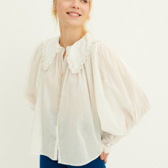 Antik Batik Aramis Blouse - cotton | white | L / 42 - White/White