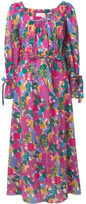 La DoubleJ Long Sleeve Printed Dress