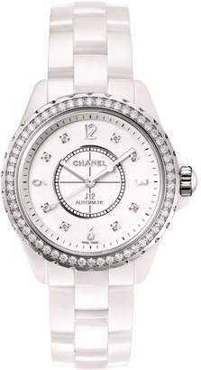 Chanel Ceramic, Steel and Diamond J12 Watch 38mm