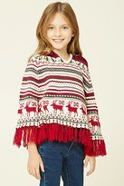 Forever 21 FOREVER 21+ Girls Hooded Poncho (Kids)