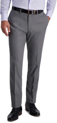 Louis Raphael Skinny Fit Stretch Heather Gabardine Solid Pants