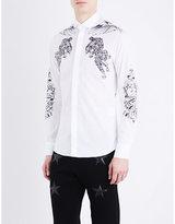 Philipp Plein Tattoo-print Cotton Shirt