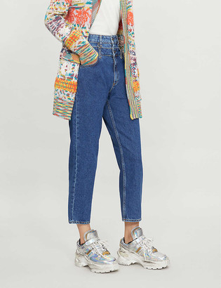 Sandro High-rise double-layer jeans