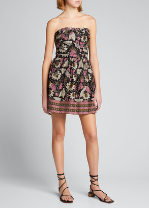 Alexis Malena Strapless Floral Short Dress