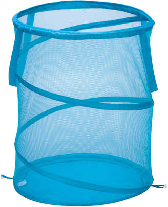 Honey-Can-Do Blue Large Mesh Pop-Open Hamper