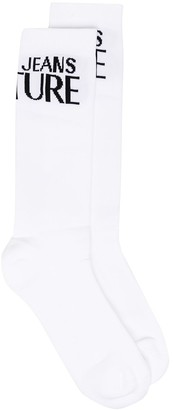 Versace Jeans Couture Logo Embroidered Socks