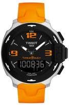 Tissot Men's T-Touch T081.420.17.057.02 Orange Silicone Swiss Quartz Watch with Dial