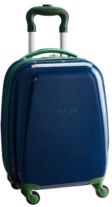 Pottery Barn Kids Mackenzie Navy Green Trim Solid Hard Sided Luggage