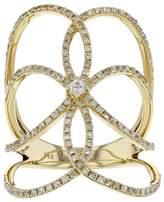 14K Yellow Gold & 0.67ct Pave Diamond Long Ring