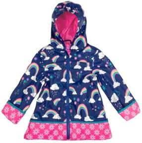 Stephen Joseph Toddler Girl Rainbow Print Raincoat