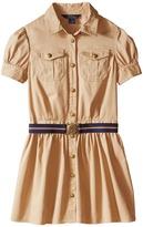 Polo Ralph Lauren Tissue Chino Shirtdress (Big Kids)