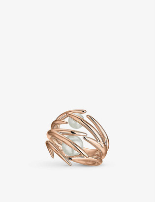 Shaun Leane Cherry Blossom rose gold-plated vermeil silver and pearl ring