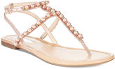 INC International Concepts Madigane Embellished Flat Sandals, Only at Macy's