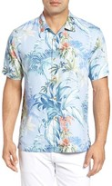 Tommy Bahama Men's Tropical Falls Regular Fit Print Silk Camp Shirt
