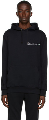 Paul Smith 50th Anniversary Black Logo Apple Hoodie