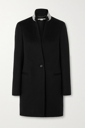 Stella McCartney Wool-felt Coat - Black