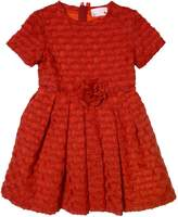 Lanvin Petite Embossed Techno Blend Satin Party Dress