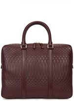 Paul Smith No.9 Burgundy Embossed Leather Briefcase